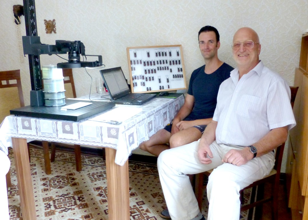 """... working together with Dr. Schenk for """"Beetles World No. 7"""
