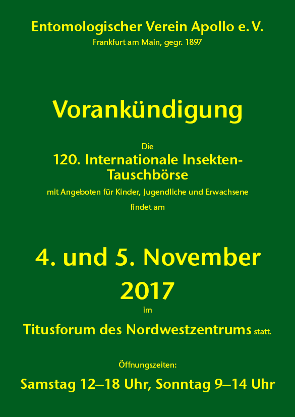 International Insectfair Frankfurt am Main 2016