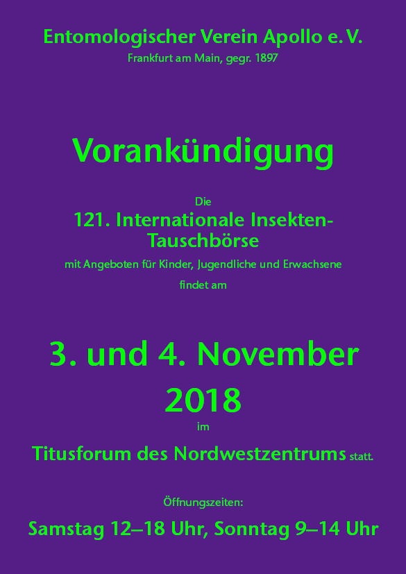 International Insectfair Frankfurt am Main 2018